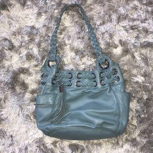 Light blue michael kors purse